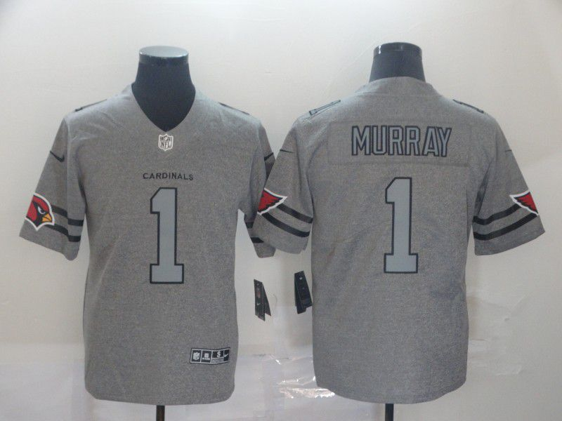 Men Arizona Cardinals 1 Murray Grey Retro Nike NFL Jerseys