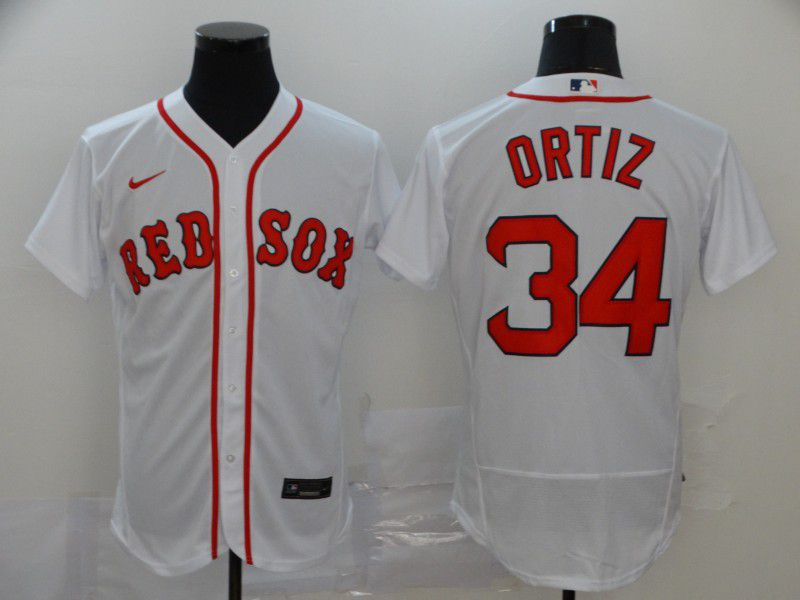Men Boston Red Sox 34 Ortiz White Elite Nike Elite MLB Jerseys