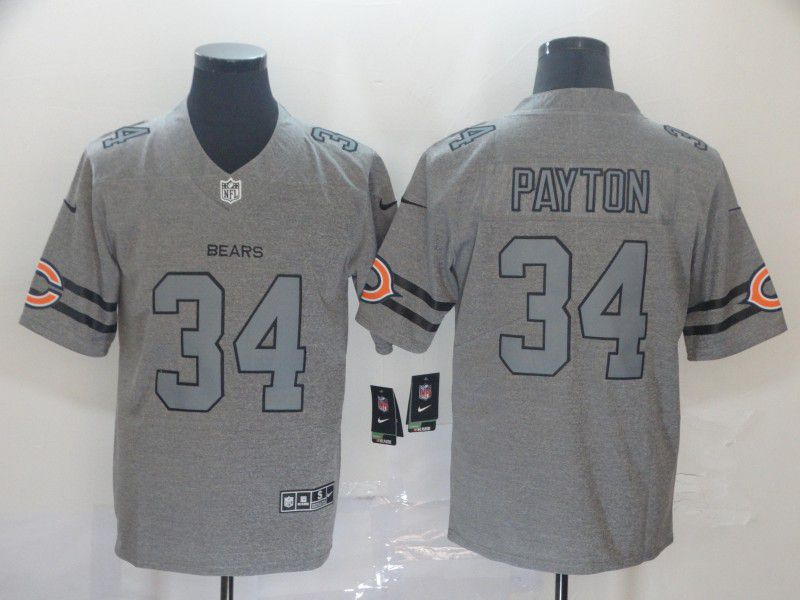 Men Chicago Bears 34 Payton Grey Retro Nike NFL Jerseys