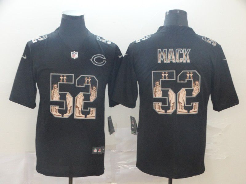 Men Chicago Bears 52 Mack Black Goddess fashion Edition Nike NFL Jerseys