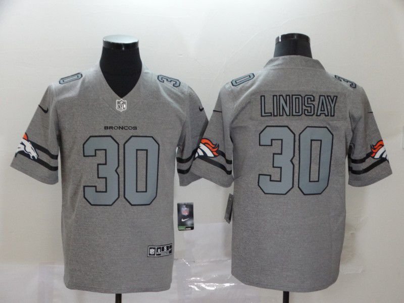 Men Denver Broncos 30 Lindsay Grey Retro Nike NFL Jerseys