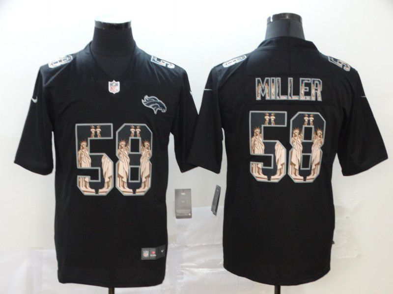 Men Denver Broncos 58 Miller Black Goddess fashion Edition Nike NFL Jerseys
