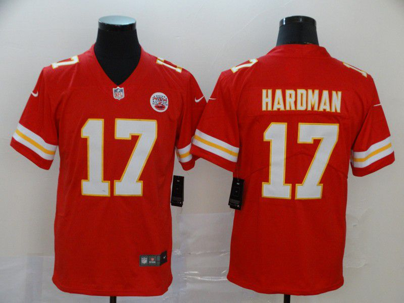Men Kansas City Chiefs 17 Haroman Red Nike Vapor Untouchable Limited NFL Jersey