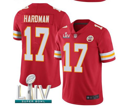 Men Kansas City Chiefs 17 Haroman Red Super Bowl LIV 2020 Stitched NFL Vapor Untouchable Limited Jersey