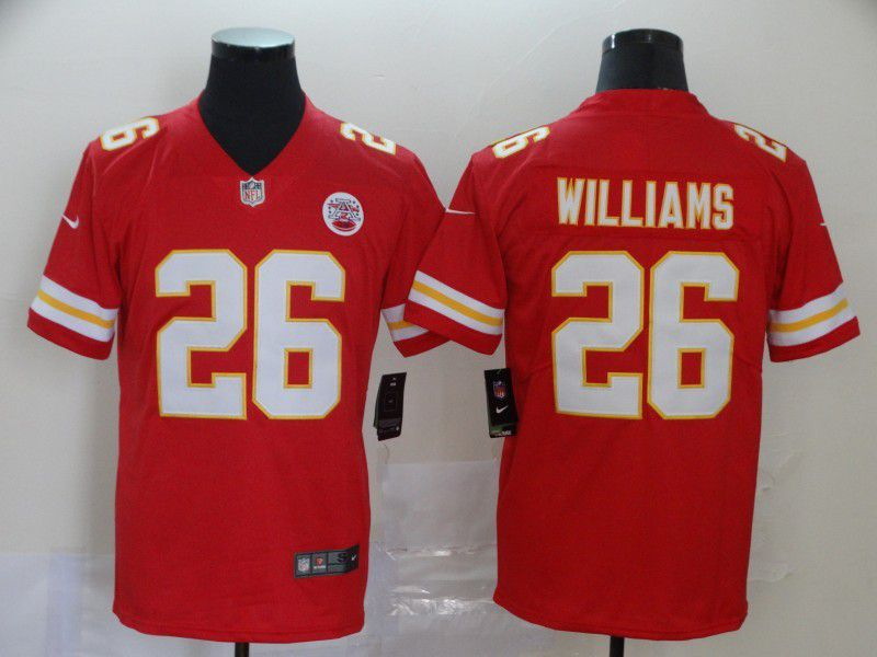 Men Kansas City Chiefs 26 Williams Red Nike Vapor Untouchable Limited NFL Jersey