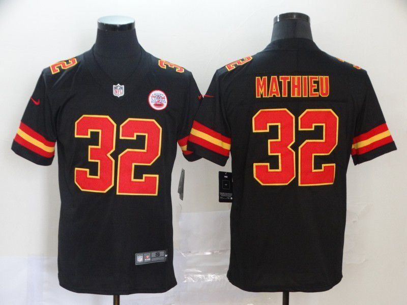 Men Kansas City Chiefs 32 Mathieu Black Nike Vapor Untouchable Limited NFL Jersey