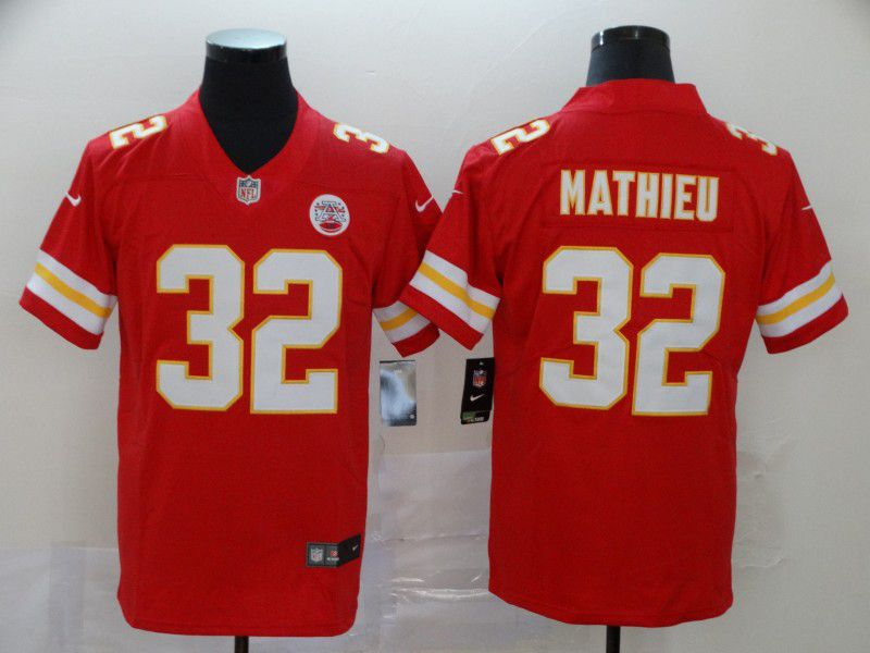 Men Kansas City Chiefs 32 Mathieu Red Nike Vapor Untouchable Limited NFL Jersey