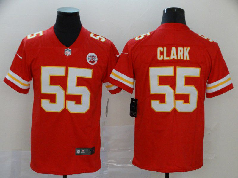 Men Kansas City Chiefs 55 Clark Red Nike Vapor Untouchable Limited NFL Jersey