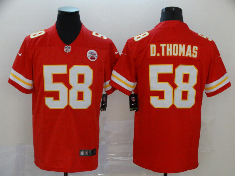 Men Kansas City Chiefs 58 D.Thomas Red Nike Vapor Untouchable Limited NFL Jersey