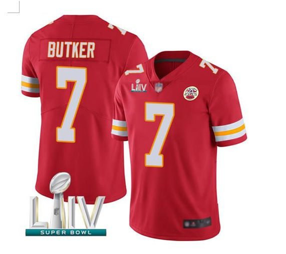 Men Kansas City Chiefs 7 Butker Red Super Bowl LIV 2020 Stitched NFL Vapor Untouchable Limited Jersey