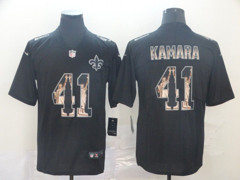 Men New Orleans Saints 41 Kamara Black Goddess fashion Edition Nike NFL Jerseys