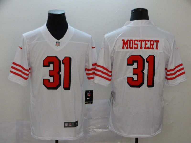 Men San Francisco 49ers 31 Mostert White New Nike Vapor Untouchable Limited NFL Jersey