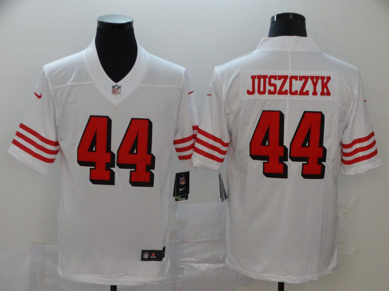 Men San Francisco 49ers 44 Juszczyk White New Nike Vapor Untouchable Limited NFL Jersey