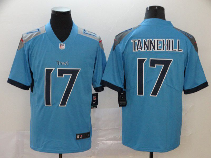 Men Tennessee Titans 17 Tannehill Light Blue New Nike Vapor Untouchable Limited NFL Jersey