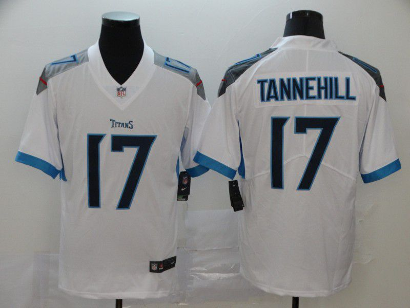 Men Tennessee Titans 17 Tannehill White New Nike Vapor Untouchable Limited NFL Jersey