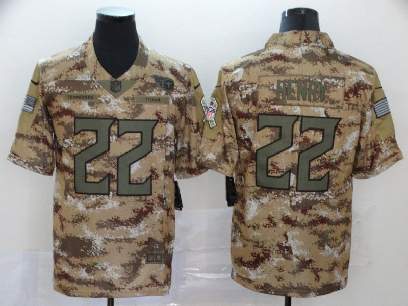 Men Tennessee Titans 22 Henry Camo New Nike Vapor Untouchable Limited NFL Jersey