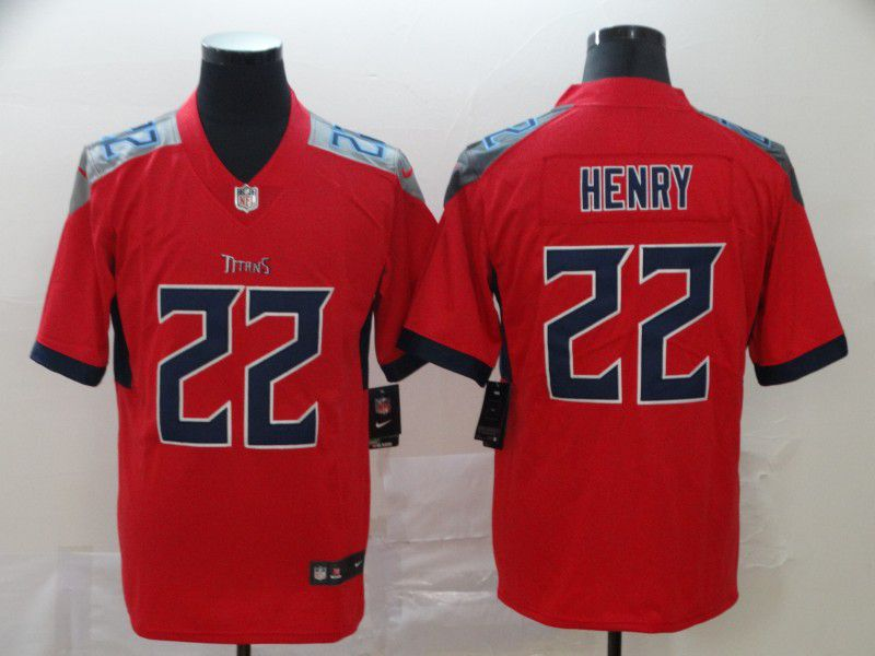 Men Tennessee Titans 22 Henry Red New Nike Vapor Untouchable Limited NFL Jersey