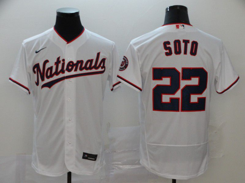 Men Washington Nationals 22 Soto White Nike Elite MLB Jerseys