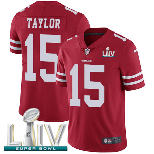 San Francisco 49ers Nike 15 Trent Taylor Red Super Bowl LIV 2020 Team Color Men Stitched NFL Vapor Untouchable Limited Jersey