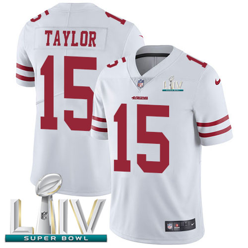 San Francisco 49ers Nike 15 Trent Taylor White Super Bowl LIV 2020 Youth Stitched NFL Vapor Untouchable Limited Jersey