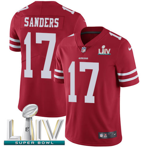 San Francisco 49ers Nike 17 Emmanuel Sanders Red Super Bowl LIV 2020 Team Color Youth Stitched NFL Vapor Untouchable Limited Jersey