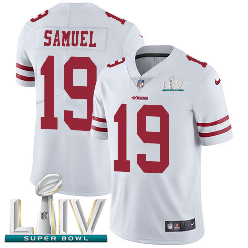 San Francisco 49ers Nike 19 Deebo Samuel White Super Bowl LIV 2020 Youth Stitched NFL Vapor Untouchable Limited Jersey