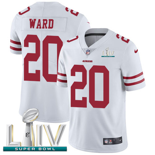 San Francisco 49ers Nike 20 Jimmie Ward White Super Bowl LIV 2020 Youth Stitched NFL Vapor Untouchable Limited Jersey