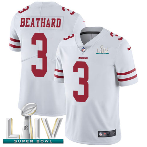 San Francisco 49ers Nike 3 C.J. Beathard White Super Bowl LIV 2020 Youth Stitched NFL Vapor Untouchable Limited Jersey