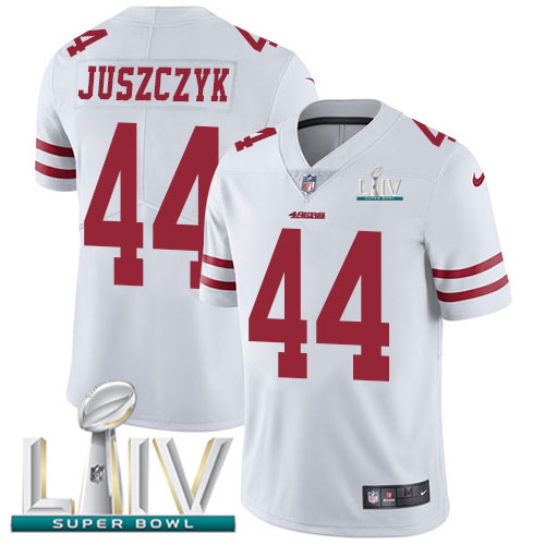 San Francisco 49ers Nike 44 Kyle Juszczyk White Super Bowl LIV 2020 Youth Stitched NFL Vapor Untouchable Limited Jersey