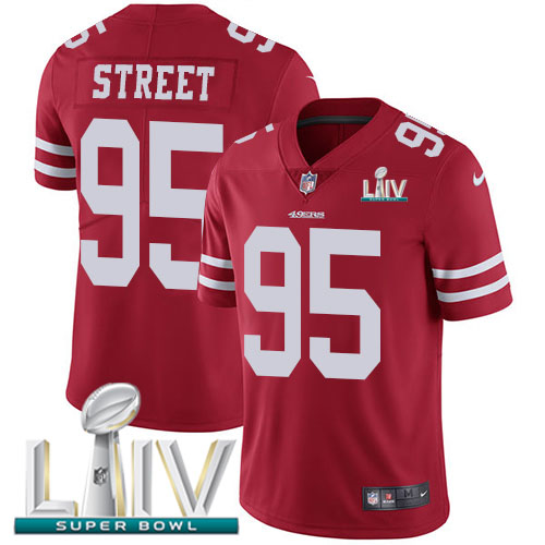 San Francisco 49ers Nike 95 Kentavius Street Red Super Bowl LIV 2020 Team Color Men Stitched NFL Vapor Untouchable Limited Jersey