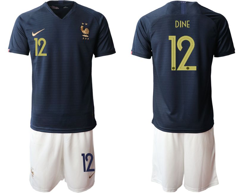 Men 2019-2020 Season National Team French home 12 blue Soccer Jerseys