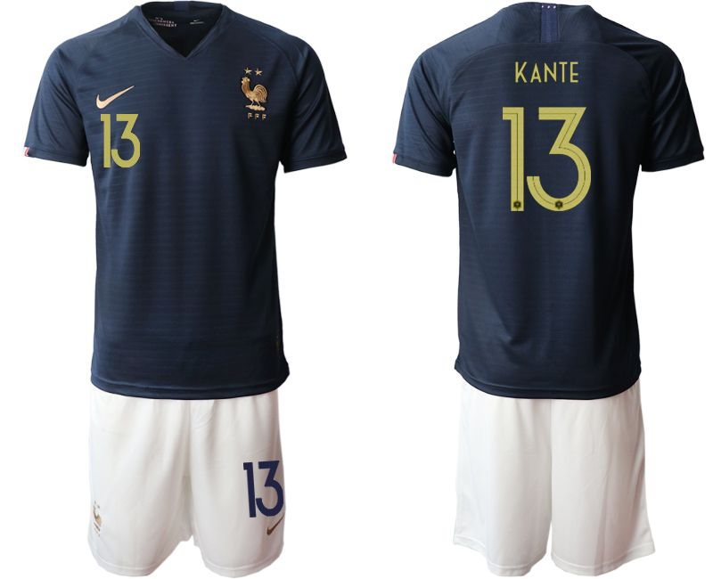 Men 2019-2020 Season National Team French home 13 blue Soccer Jerseys