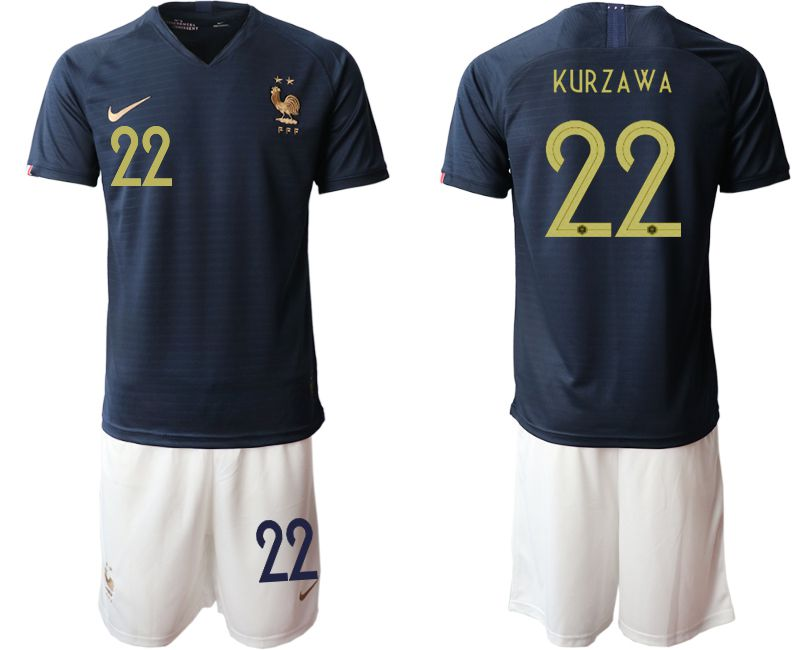 Men 2019-2020 Season National Team French home 22 blue Soccer Jerseys