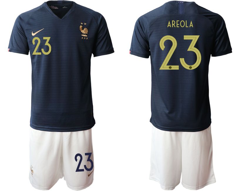 Men 2019-2020 Season National Team French home 23 blue Soccer Jerseys