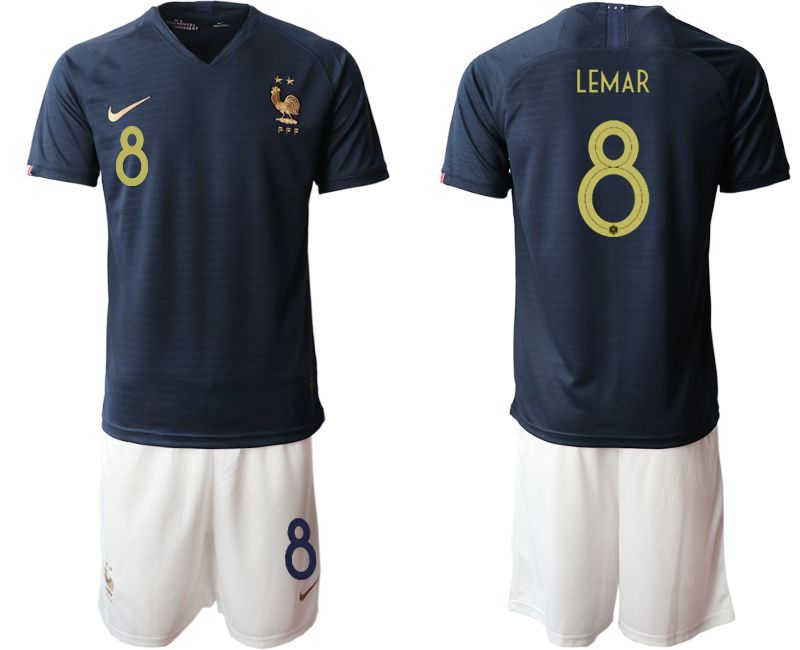 Men 2019-2020 Season National Team French home 8 blue Soccer Jerseys