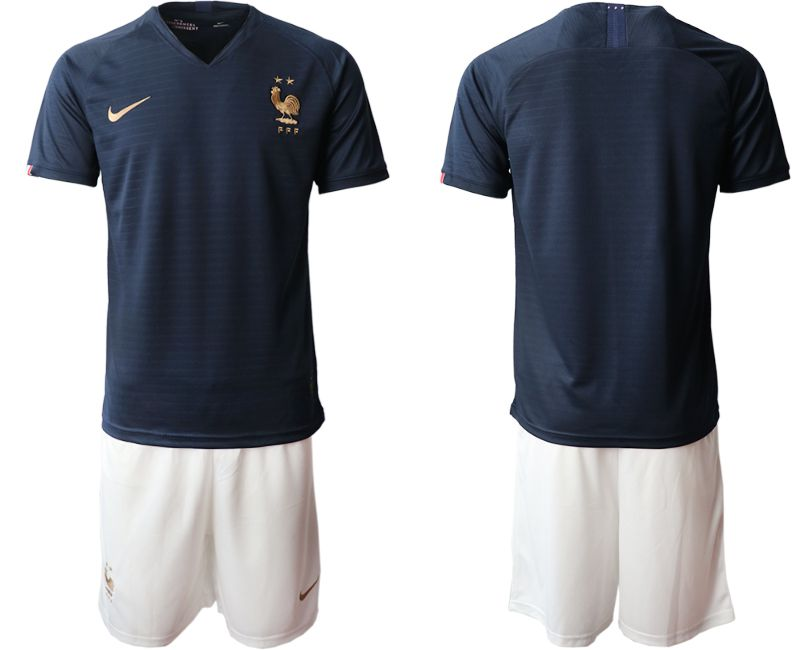 Men 2019-2020 Season National Team French home blue Soccer Jerseys