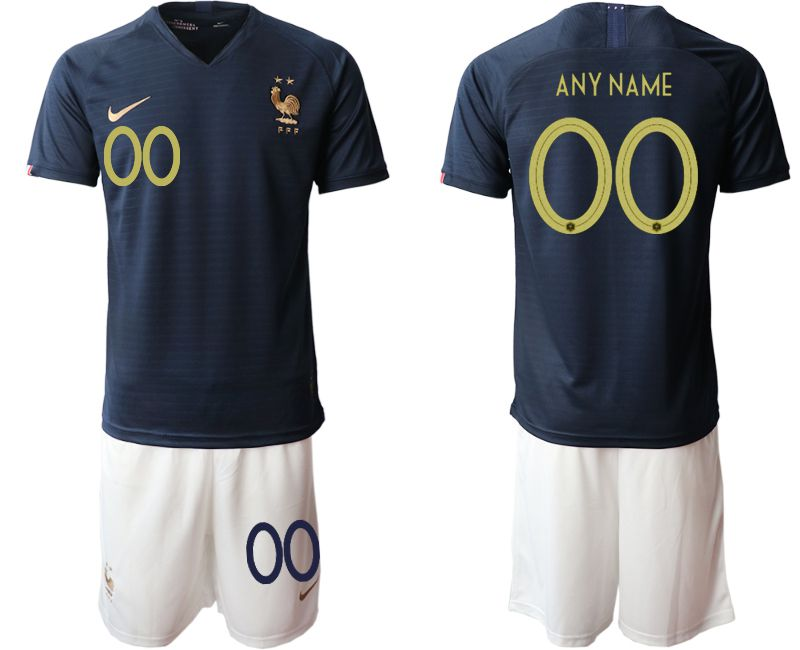 Men 2019-2020 Season National Team French home customized blue Soccer Jerseys