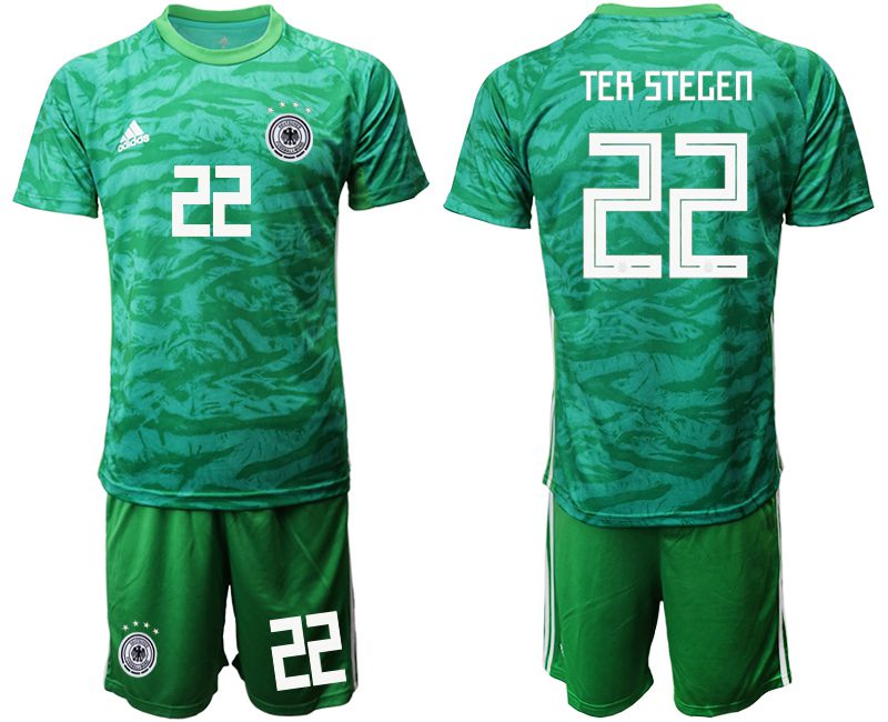 Men 2019-2020 Season National Team Germany green goalkeeper 22 Soccer Jerseys