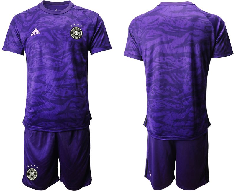 Men 2019-2020 Season National Team Germany purple goalkeeper Soccer Jerseys
