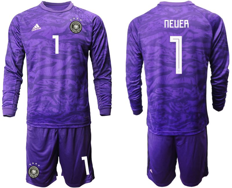 Men 2019-2020 Season National Team Germany purple long sleeved Goalkeeper 1 Soccer Jersey