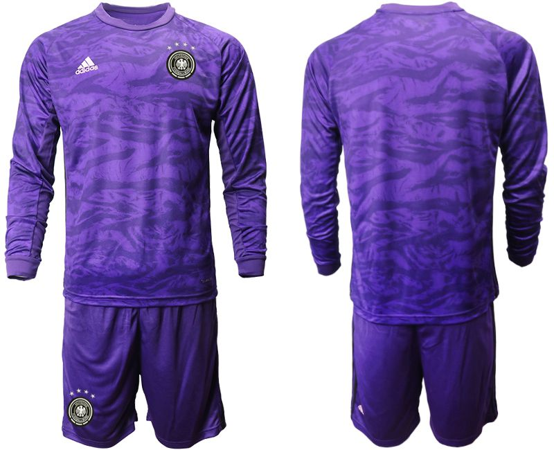 Men 2019-2020 Season National Team Germany purple long sleeved Goalkeeper Soccer Jersey