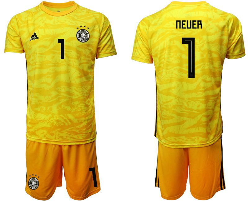 Men 2019-2020 Season National Team Germany yellow goalkeeper 1 Soccer Jerseys