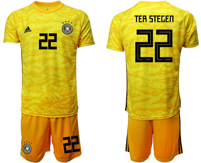 Men 2019-2020 Season National Team Germany yellow goalkeeper 22 Soccer Jerseys