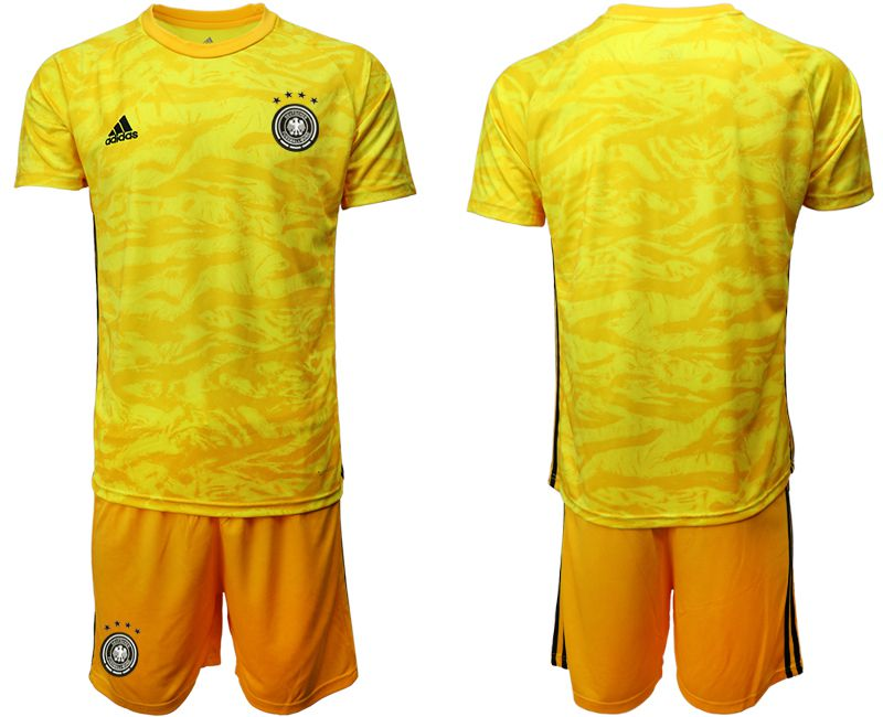 Men 2019-2020 Season National Team Germany yellow goalkeeper Soccer Jerseys