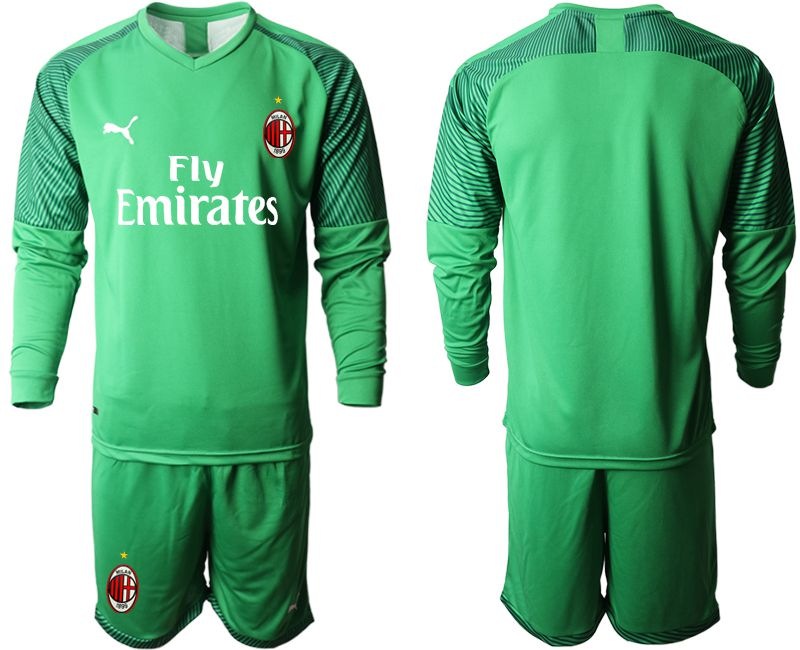 Men 2019-2020 club AC milan green goalkeeper long sleeve Soccer Jerseys
