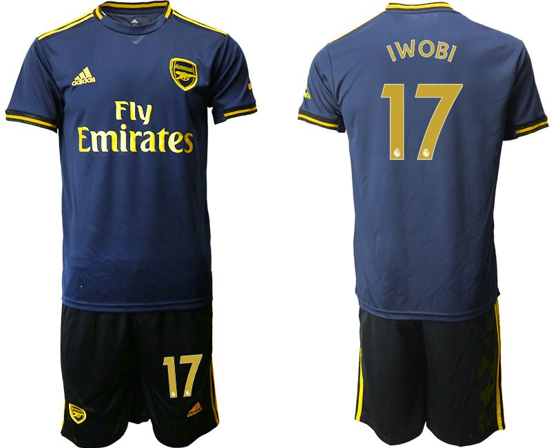 Men 2019-2020 club Arsenal away 17 blue Soccer Jerseys
