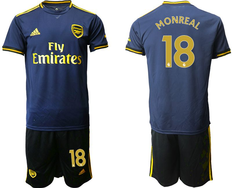 Men 2019-2020 club Arsenal away 18 blue Soccer Jerseys