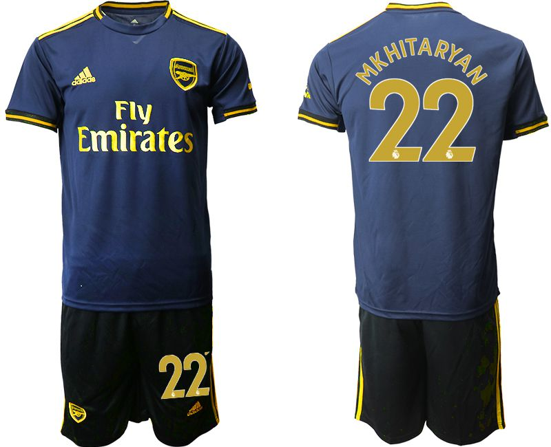 Men 2019-2020 club Arsenal away 22 blue Soccer Jerseys