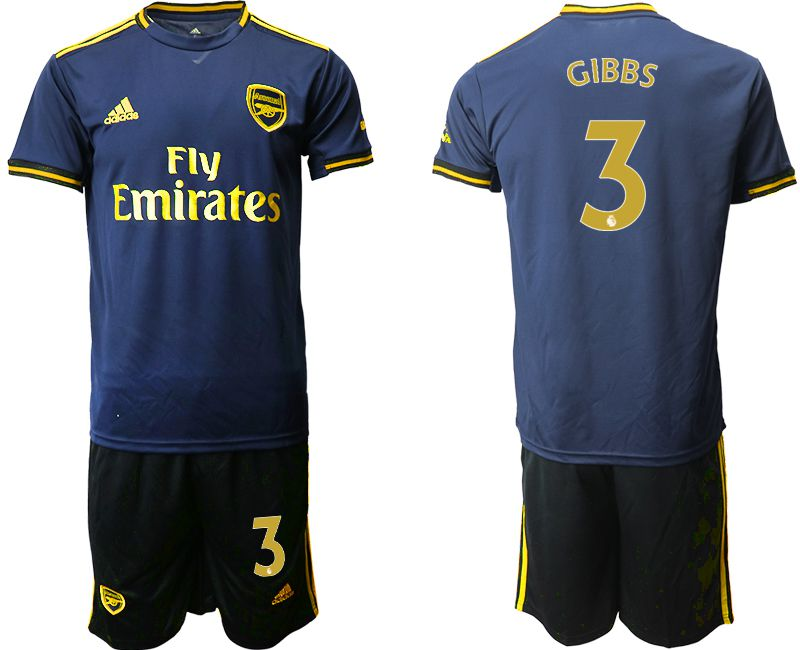 Men 2019-2020 club Arsenal away 3 blue Soccer Jerseys