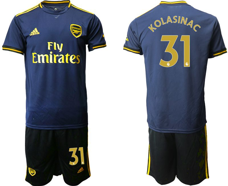 Men 2019-2020 club Arsenal away 31 blue Soccer Jerseys